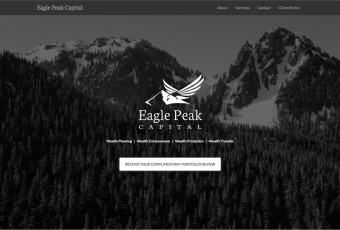 Screenshot of Eagle Peak Capital website