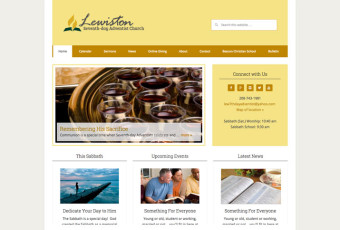 Screenshot of Lewiston Church website