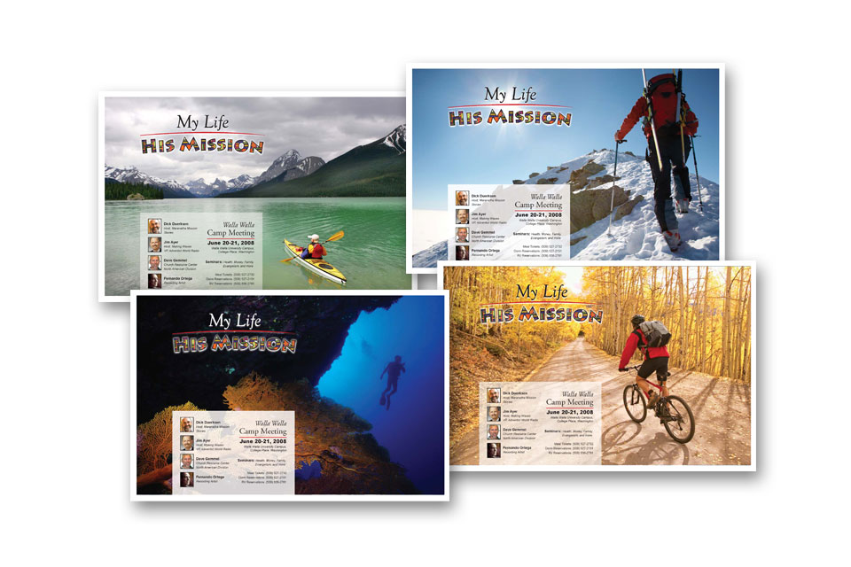 My Life His Mission Postcards