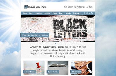 Screenshot of Pleasant Valley Church website